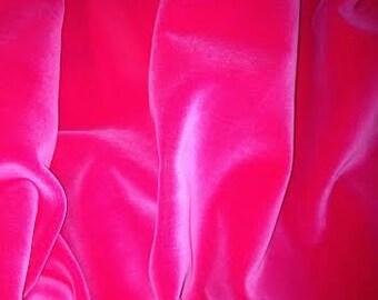 Vintage German hot pink  cotton velvet - dense and beautiful
