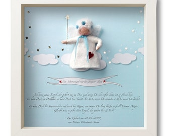 Guardian Angel - popular gift for birth and baptism. Personalized gift with name and own dedication.
