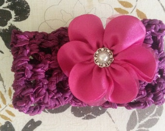 Stretchy Headbands with Optional Intercheangable Flower Attachment