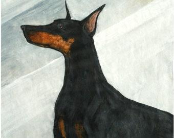 Doberman Pinscer Dog Print