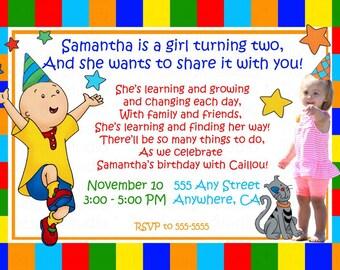 Cailou Photo Birthday Invitation