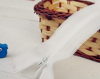 6 pcs of Invisible Zipper, White, 35cm, 40cm, 45cm, 50cm, 60cm Aavailable