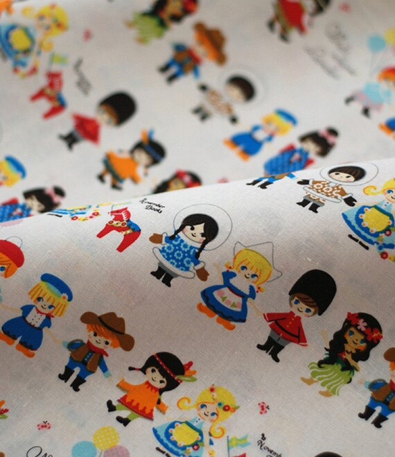 Different countries children design cotton linen fabric for Children s home decor fabric