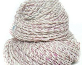 Handspun handdyed yarn BFL Merino wool tencel kidmohair sparkle