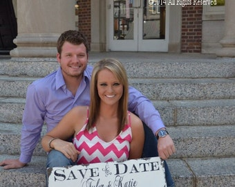 Save The Date Sign | Personalized Sign | We're Engaged | Newly Engaged | I said Yes | Rustic Save the Date Sign | Were Getting Married