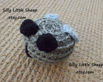 Silly Fly - stuffed soft crocheted toy for children, toddlers and babies