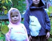 Monster Hoodie in Fleece where the wild things are inspiration size 12M, 18m, 2,3,4,5,6,6X