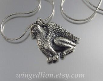 Ready to ship GRIFFIN designer silver pendant