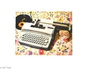 Typewriter Hedgehog Postcard, set of 2 postcards, Katniss, Letter Go!