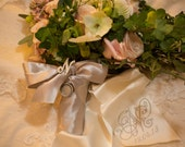 Bouquet Ribbon Sash embroidered with monogram