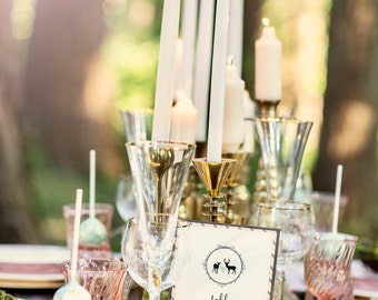 Wedding Table Numbers Rustic Woodland Doe and Buck