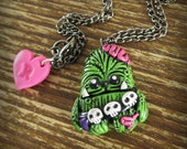 Zombie Chewbacca Inspired Necklace