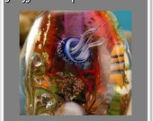 Lampwork Glass Bead Tutorial Jellyfish Seascape - Aquarium Focal Instant Download