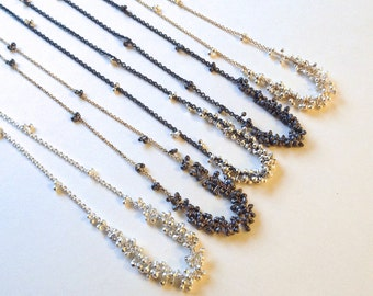 Clustered Wisteria Necklace- Choose your Finish