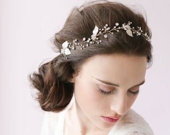Bridal crystal hair vine - Crystal sparkle hair vine - Style # 408 - Made to Order