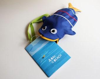 Tote bag Fish (DARK BLUE) + book
