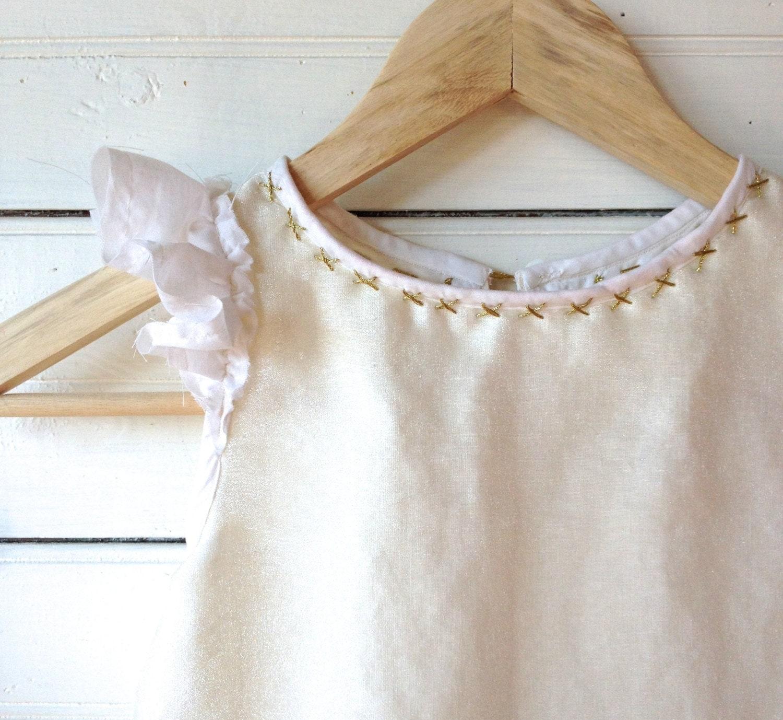 Rustic Flower Girl Dress Linen Flower Girl by ZoeLoomisHandmade