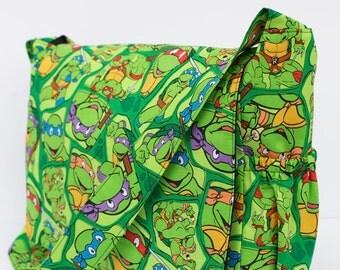 Punk Rock  Ninja Turtles Diaper Bag - CUSTOM