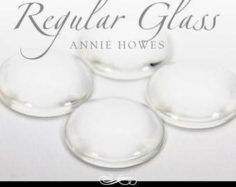 1 in clear circle glass tiles. Regular Domed  Clear Glass Tiles for Pendants and Magnets. 25 Pack-UB. Annie Howes