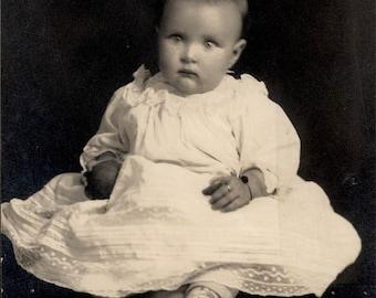 vintage photo Beauty Baby Floating J Z Dufresne Portland Oregon Studio RPPC