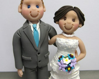 DEPOSIT for Custom made Polymer Clay Wedding Cake Topper decoration