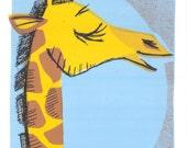 Giraffe Screen Print by Print Mafia