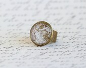 Map Ring, Gift For Traveler, World Map, Map Jewelry, Explorer, Adventurer, Vintage Style Map, Gift For Woman, Mothers Day Gift