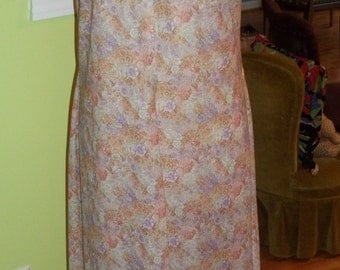 Amazing HIPPIE CHIC Vintage Muted Tone Floral Semi Sheer Maxi Dress