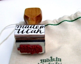 Hand Lettered Stamp, Made in Utah, Rubber Stamp, Utah State Pride, Modern Calligraphy, Artist Stamp
