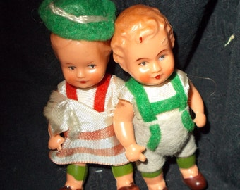 Vintage  Ed Doll Couple