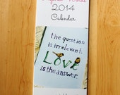 2014 Wall Calendar -- Inspired Words, Featuring 12 Paintings by Laurie Coyle
