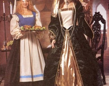 Medieval dress pattern Theater costume sewing pattern McCalls 2242 UNCUT 10 to 14