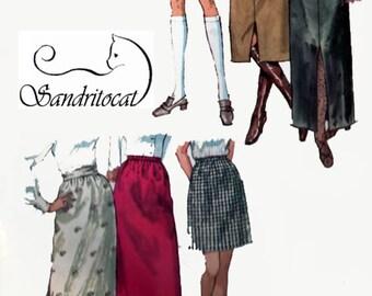 1970s Maxi, Mini Midi or Middy Skirt Simplicity 9099 Vintage 70s Womens Jiffy Pattern Size 18 UNCUT