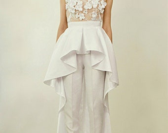 Giselle Two Piece Bridal Jumpsuit