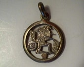 Aztec Silver Charm Vintage Sterling Silver Aztec or Mayan Figural Motif