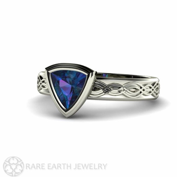 alexandrite ring alexandrite engagement ring trillion by