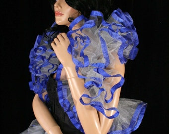 how to make a tulle shoulder wrap