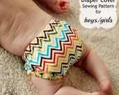 Diaper Cover Sewing Pattern Tutorial 0m-2t PDF Instant