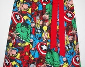 Girls Dress Superhero Dress Avengers Dress with Spiderman Hulk Captain America Thor Super Hero Party baby dress toddler dress Kids Clothes