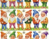 Vintage English Scrap - Gnomes for Paper Arts