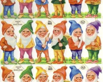 Vintage English Scrap - Gnomes for Paper Arts
