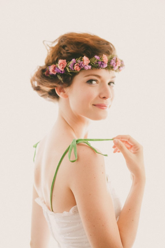 Boho dried flower crown