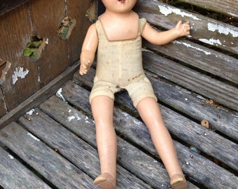 Vintage Composition Baby Doll for Altered Art Steampunk