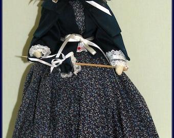 Linda Sweetness Handmade Victorian Faceless Lady Art Doll