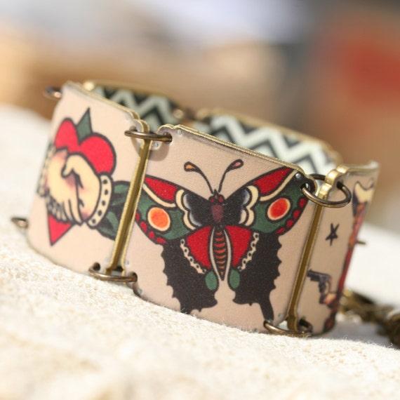 tattoo bracelet sailor jerry bracelet tattoo jewelry sparrow. Black Bedroom Furniture Sets. Home Design Ideas
