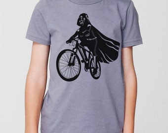 Darth Vader Is Riding It - Toddler / Youth American Apparel Kids T-shirt ( Star Wars kids tshirt )