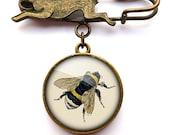 Vintage Bee Hare Pin Brooch (ER04)