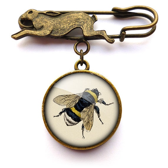 Vintage Bee Hare Pin Brooch (ER04)