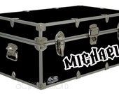 Personalized Camp Trunk Decal - Custom Name Decal - Boys Name - Rock Hero