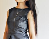 Faux LEATHER Peplum Sleeveless Top//navy blue, size XS-S